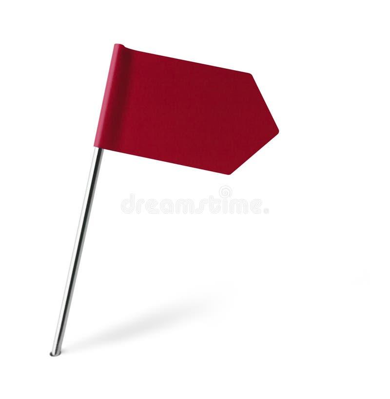 Drapeau rouge de signe photographie stock