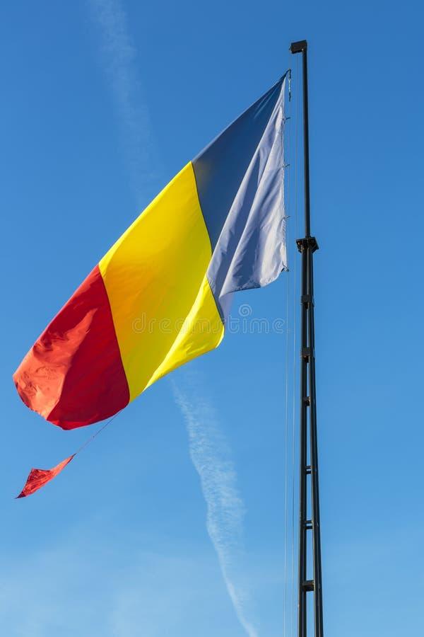 Drapeau roumain photographie stock libre de droits