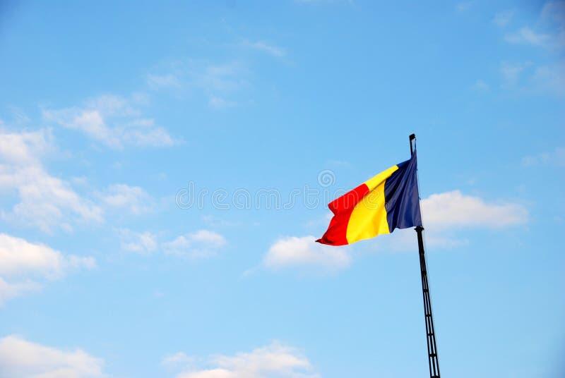 Drapeau roumain de ondulation photos libres de droits