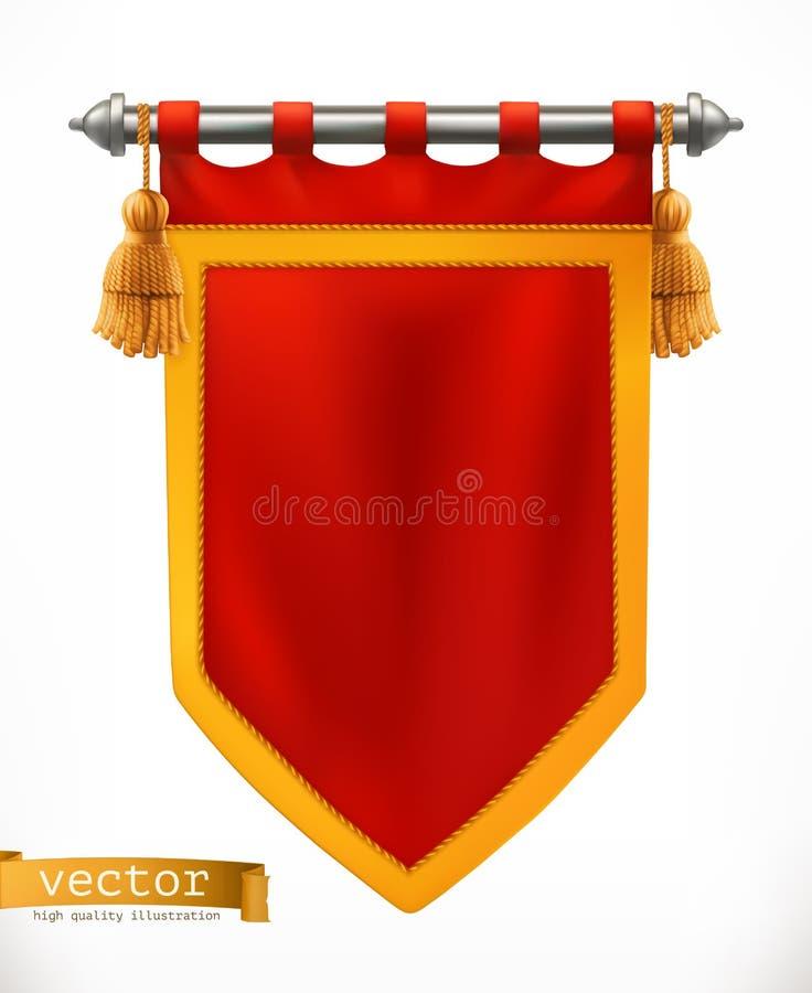 Drapeau royal bannière du vecteur 3d illustration libre de droits