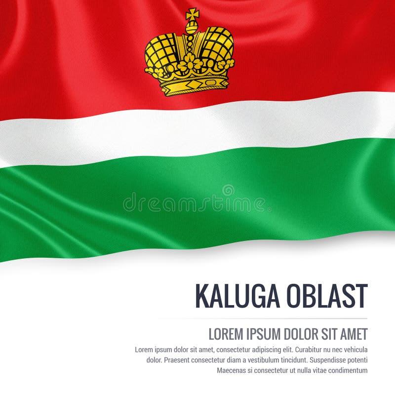 Drapeau russe de Kaluga Oblast d'état illustration libre de droits