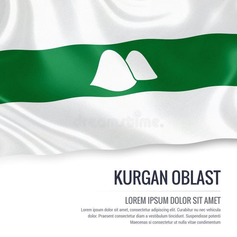 Drapeau russe de Kurgan Oblast d'état illustration libre de droits