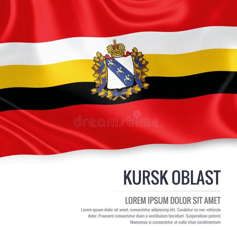Drapeau russe de Kursk Oblast d'état illustration libre de droits