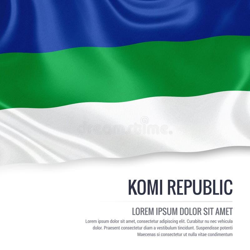 Drapeau russe de République du Komi d'état illustration de vecteur