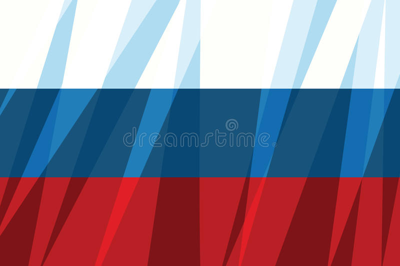 Drapeau russe, symbole d'état illustration stock