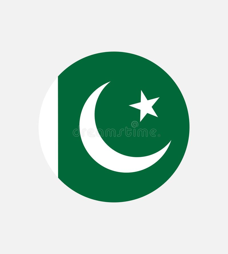 Drapeau simple du Pakistan Indicateur pakistanais Symbole de Jour de la Déclaration d'Indépendance, illustration libre de droits