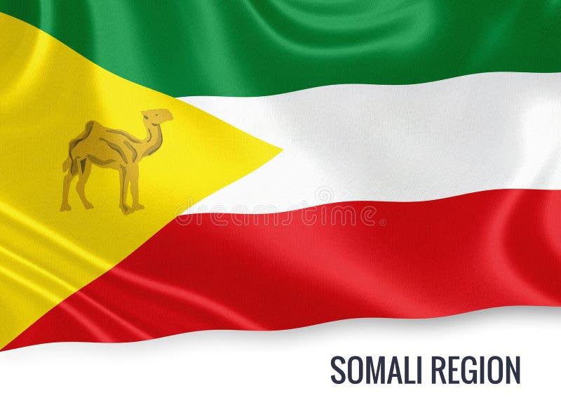 Drapeau somalien de région d'état éthiopien illustration libre de droits