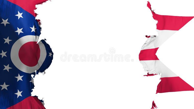 Drapeau soufflé d'état de l'Ohio illustration stock