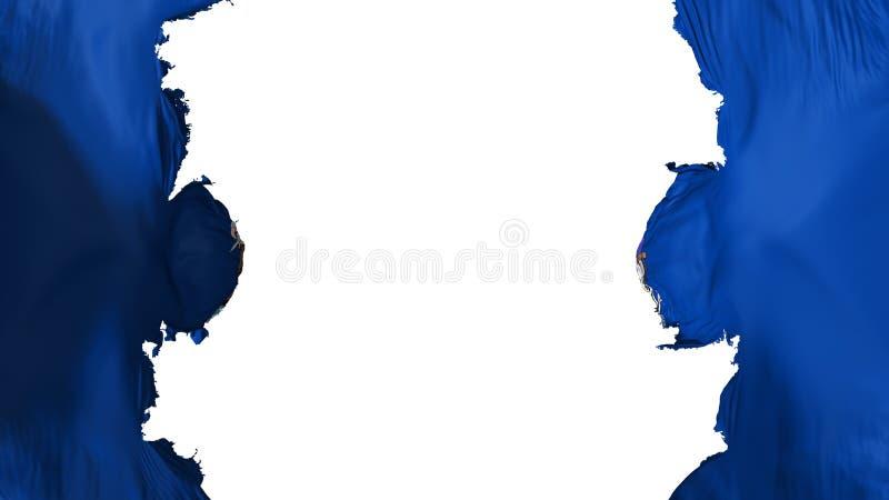 Drapeau soufflé d'état de Maine illustration libre de droits