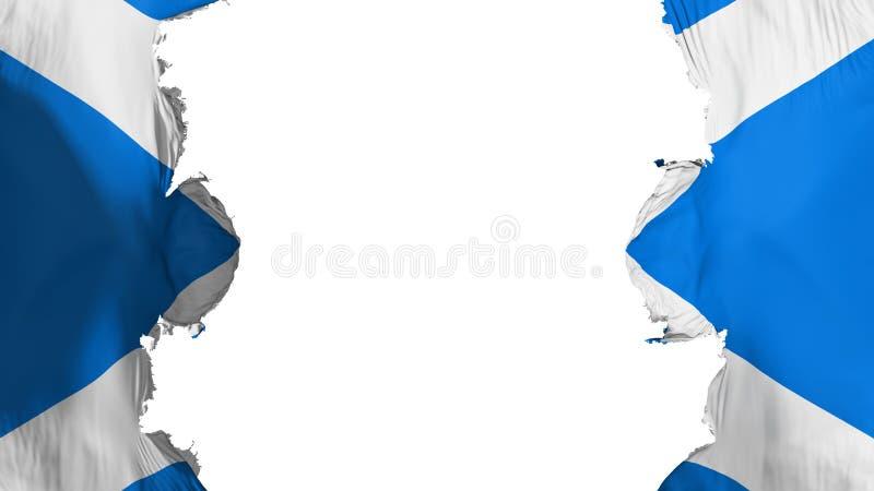 Drapeau soufflé de l'Ecosse illustration de vecteur