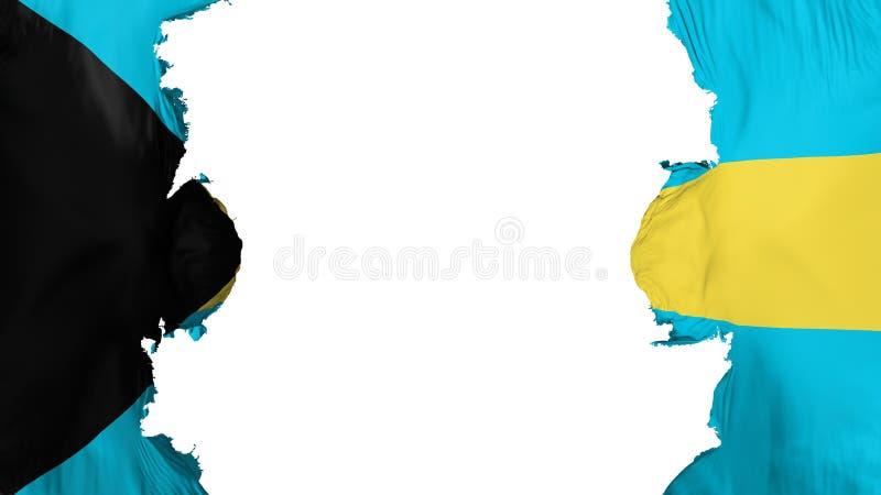 Drapeau soufflé des Bahamas illustration stock