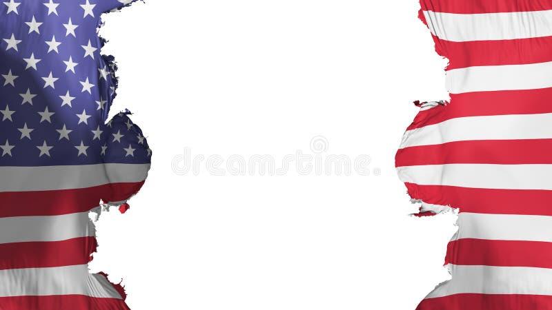 Drapeau soufflé des Etats-Unis d'Amérique illustration libre de droits