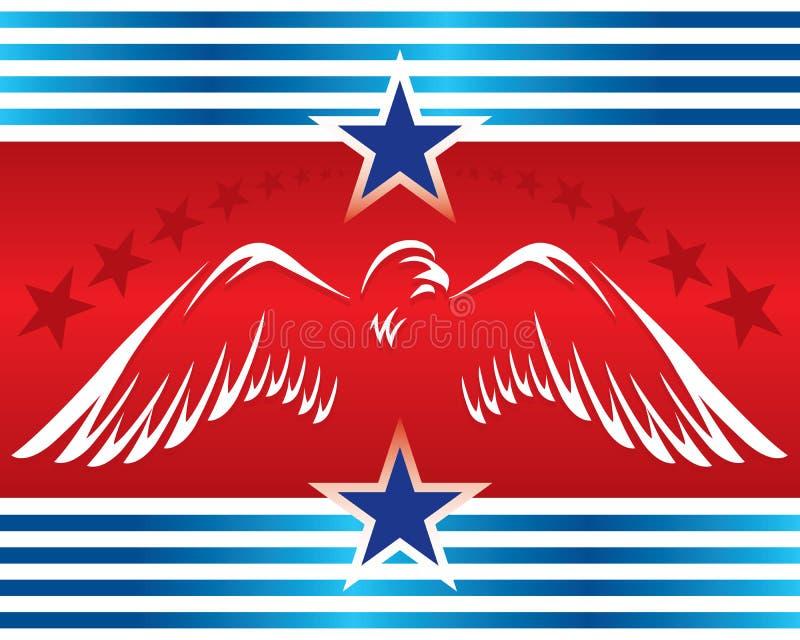 Drapeau symbol_patriotic d'aigle illustration de vecteur
