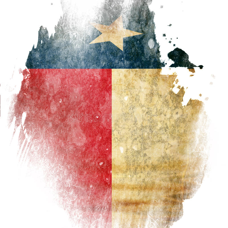 Drapeau texan illustration de vecteur
