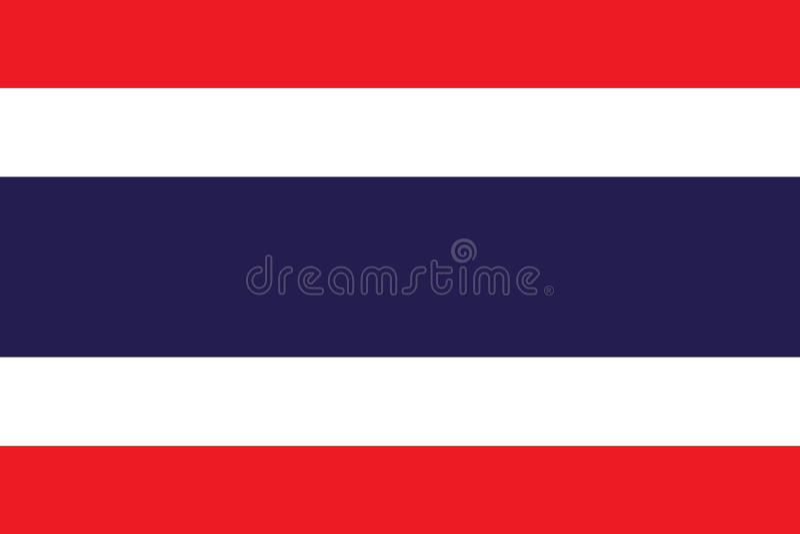 Drapeau thaïlandais de la Thaïlande illustration stock