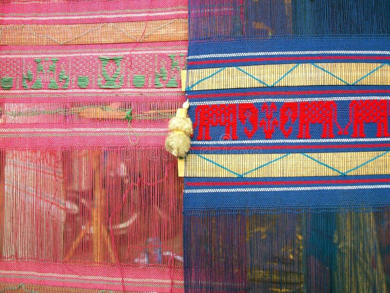 Drapeau traditionnel coloré dans du nord de la Thaïlande photo stock