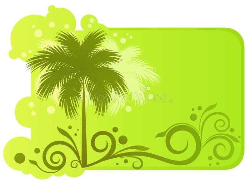 Drapeau tropical illustration de vecteur