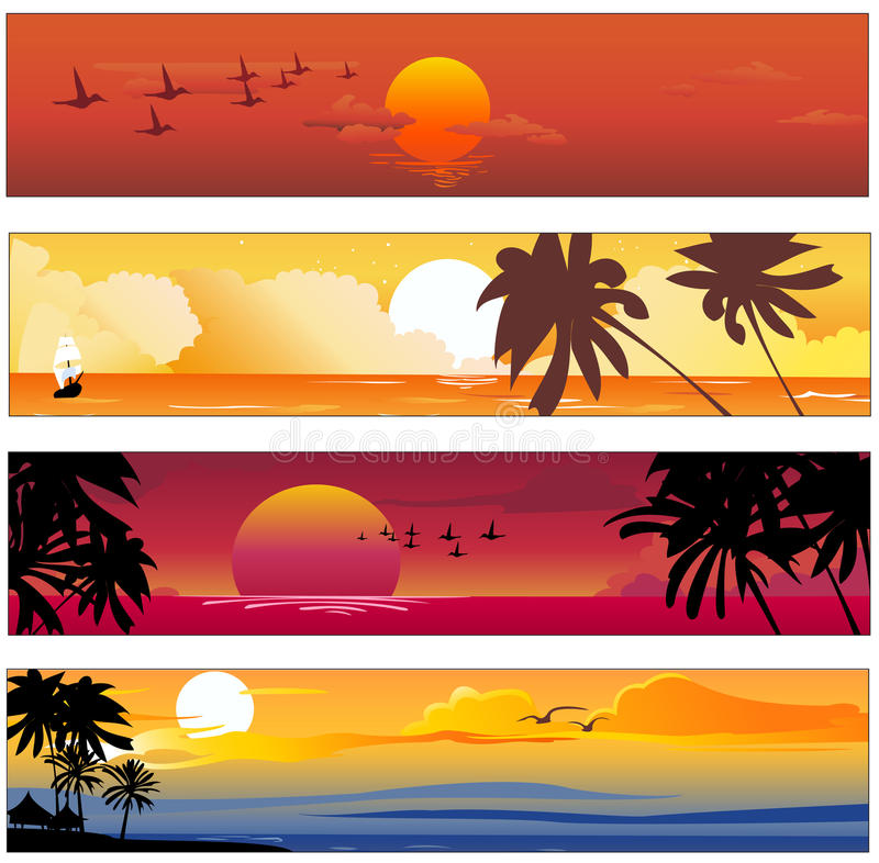 Drapeau tropical d'été photo libre de droits
