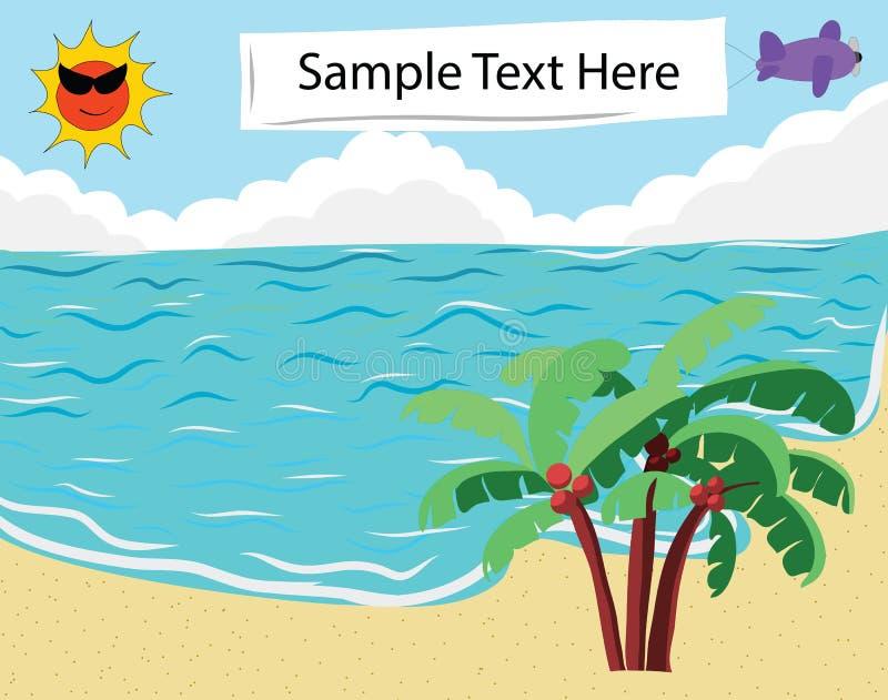 Drapeau tropical de plage photos libres de droits