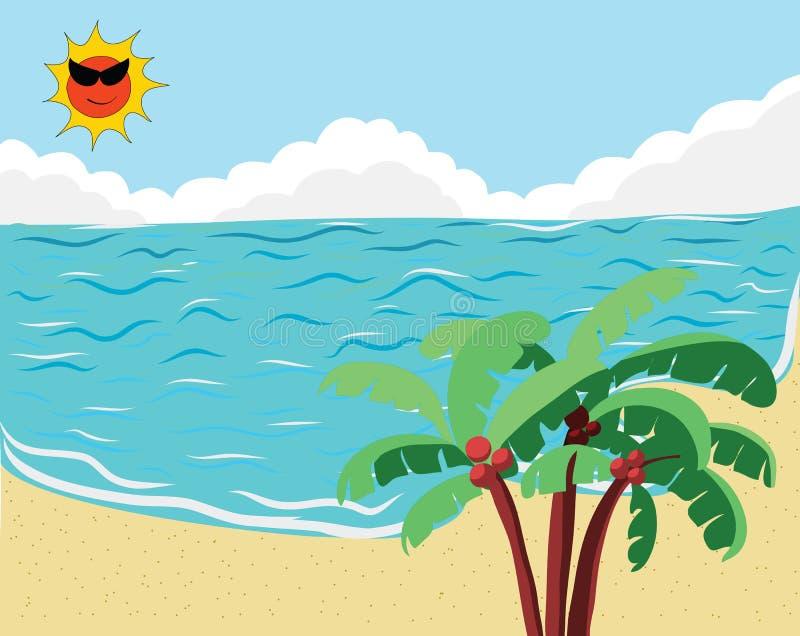Drapeau tropical de plage images libres de droits