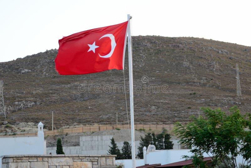 Drapeau turc dans Bagla images stock