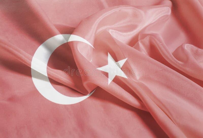 Drapeau turc de ondulation ondulé images stock