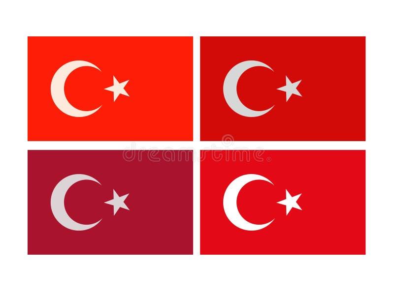Drapeau turc - république turque illustration de vecteur