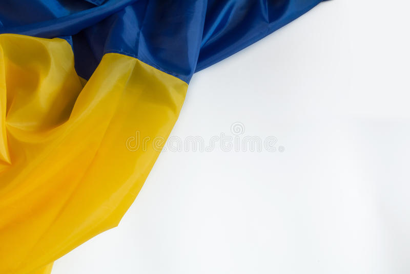 Drapeau ukrainien image stock