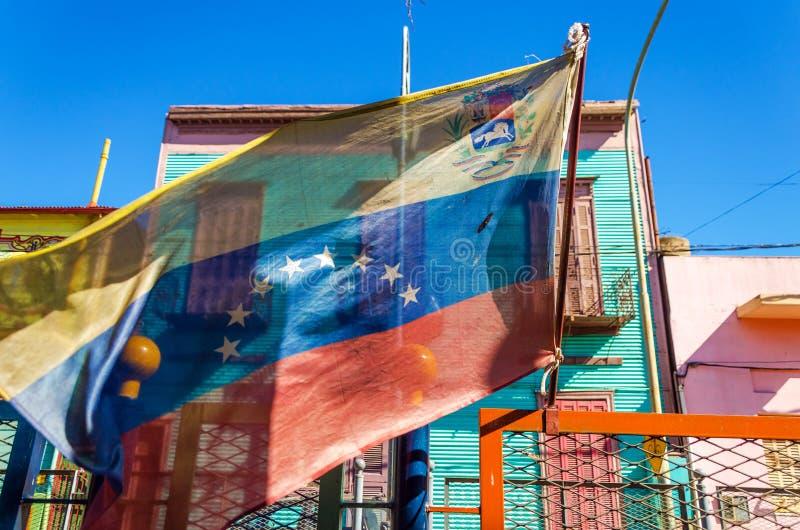 Drapeau vénézuélien image libre de droits