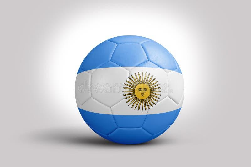 Drapeau vénézuélien sur la boule, rendu 3d Ballon de football dans l'illustration 3d Drapeau du Paraguay sur la boule, rendu 3d B illustration libre de droits