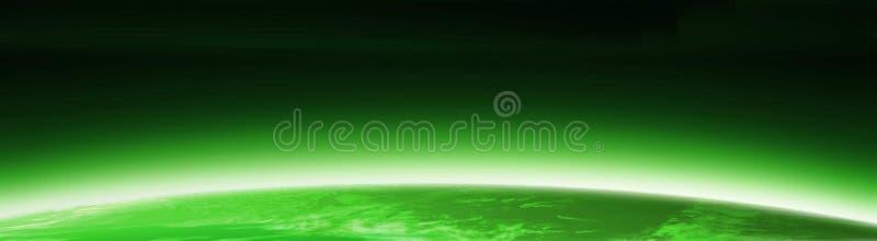 Drapeau vert de globe du monde illustration stock
