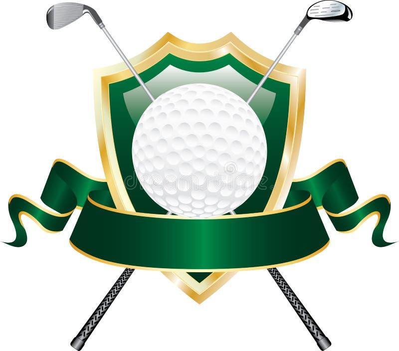 Drapeau vert de golf illustration de vecteur