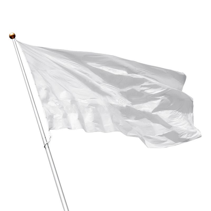 Drapeau vide blanc sur le fond blanc photos libres de droits