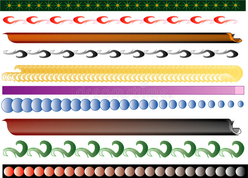 Drapeaux illustration stock