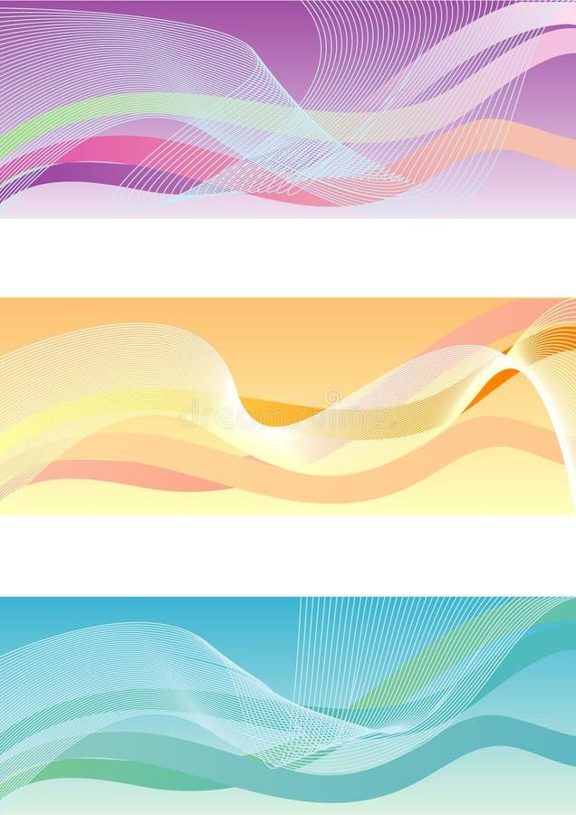 Drapeaux abstraits illustration libre de droits