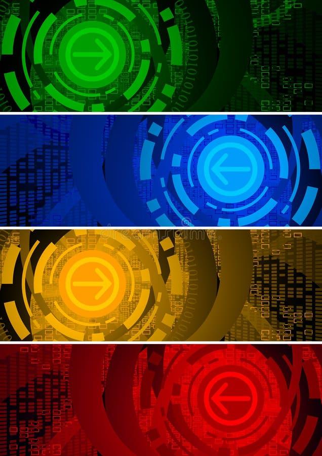 Drapeaux abstraits illustration de vecteur