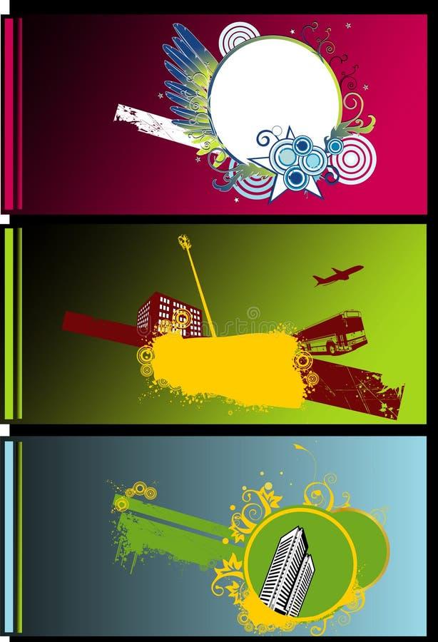 Drapeaux abstraits de ville illustration stock
