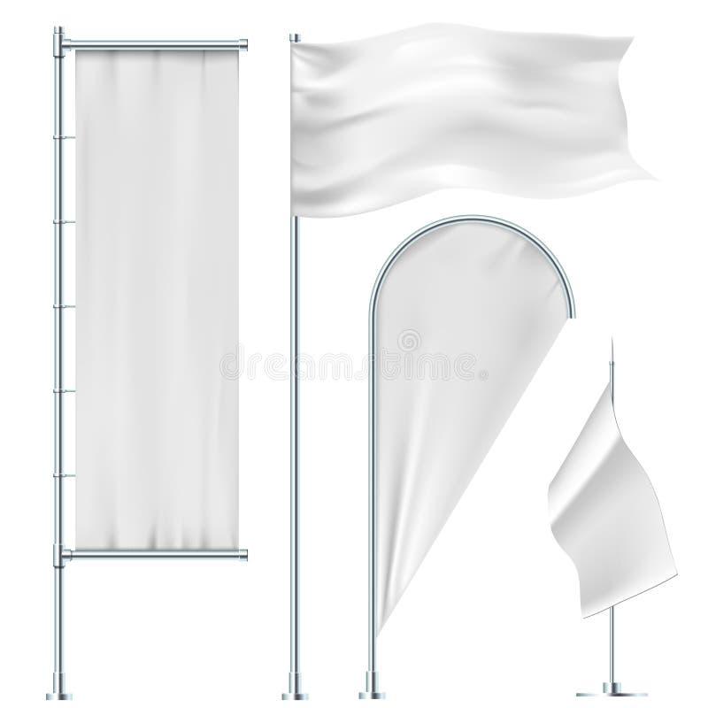 Drapeaux blancs illustration stock