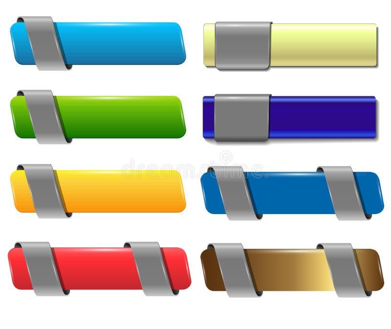 Drapeaux, boutons. illustration libre de droits