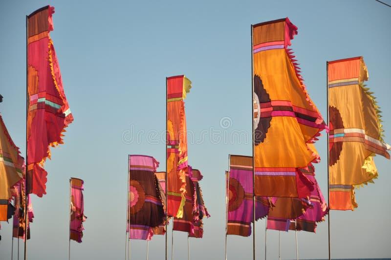 Drapeaux colorés photo stock