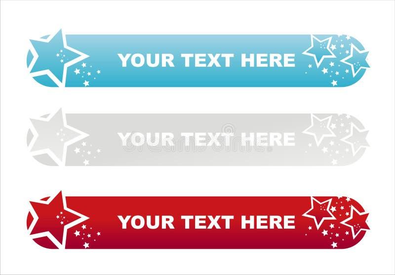 Drapeaux colorés américains d'étoiles illustration libre de droits
