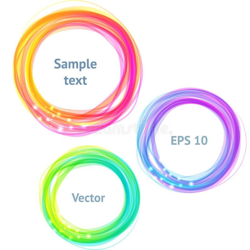Drapeaux colorés ronds de spectre pour le texte illustration de vecteur