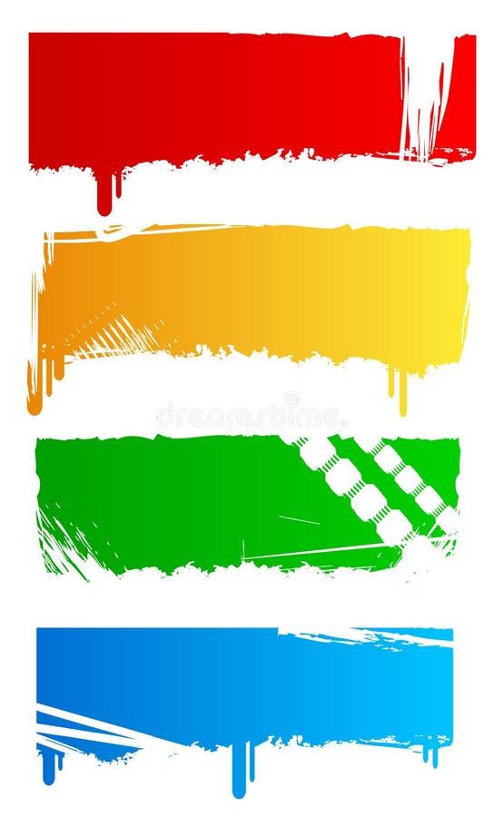 Drapeaux colorés sales illustration stock