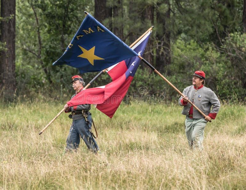Drapeaux confédérés photos stock