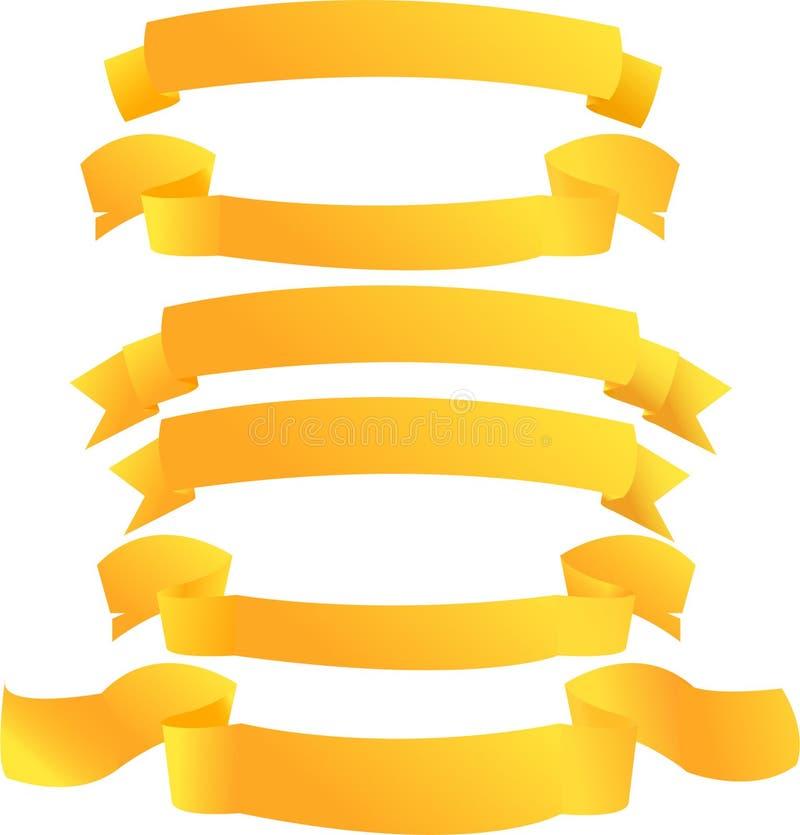 Drapeaux d'or image stock