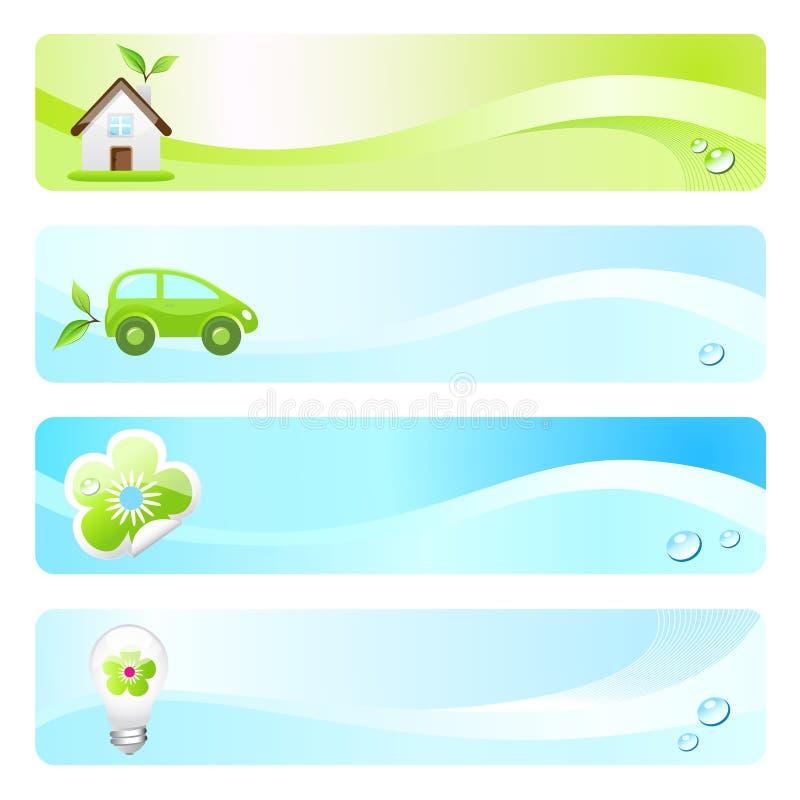 Drapeaux d'Eco illustration stock
