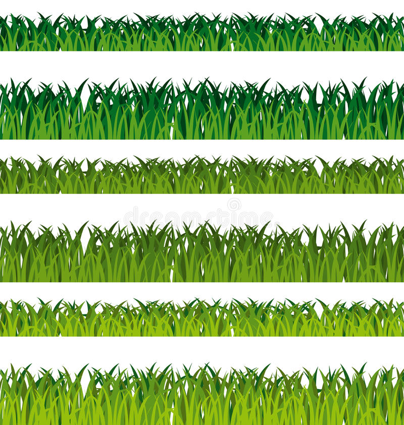Drapeaux d'herbe verte