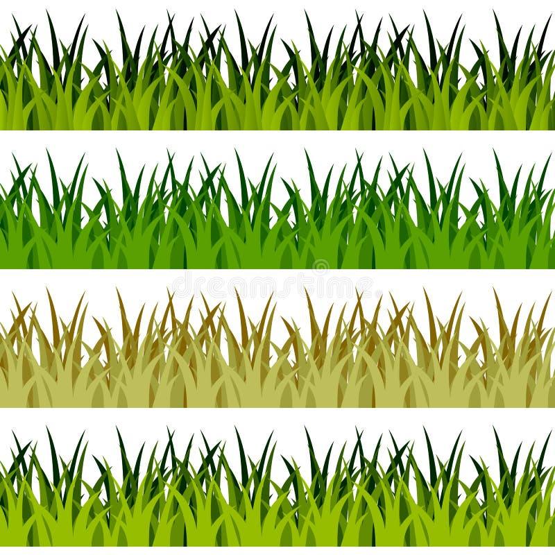 Drapeaux d'herbe verte illustration stock