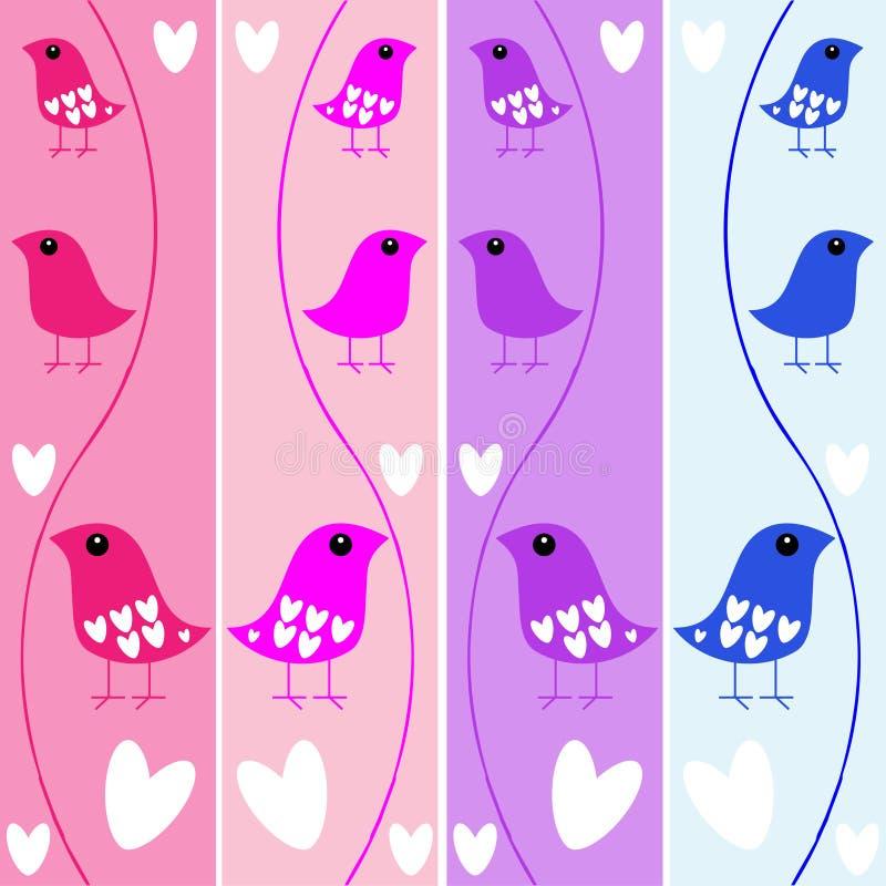 Drapeaux d'oiseau illustration de vecteur