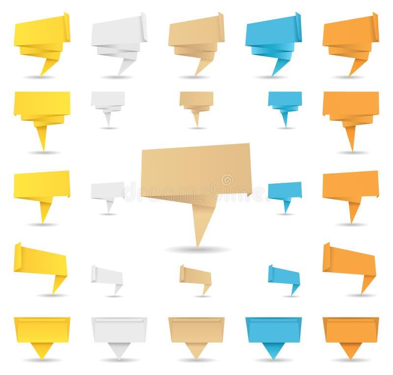 Drapeaux d'Origami illustration libre de droits